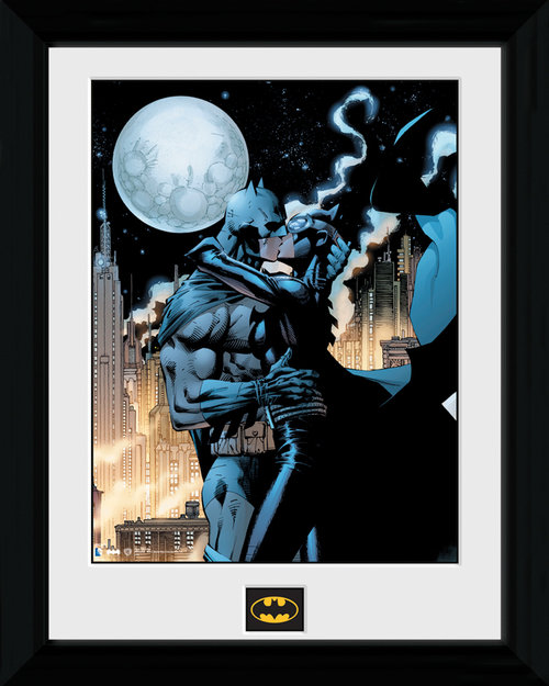 Póster Batman Moonlit Kiss emoldurado