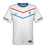 Camiseta Holanda 2010-11 Nike World Cup Away de menino