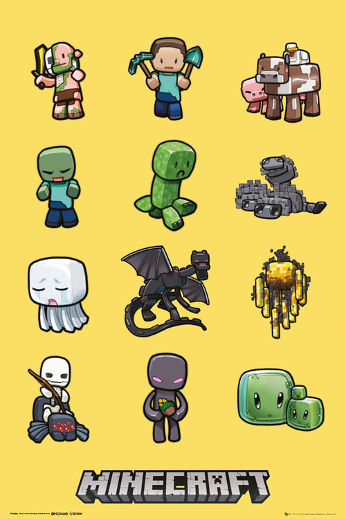 Póster Minecraft Characters
