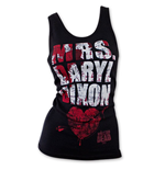 Camiseta de Suspensórios The Walking Dead Mrs. Daryl Dixon Blood Splatter