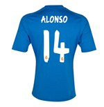 Camiseta Real Madrid 2013-14 Away (Alonso 14) - de criança
