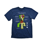Camiseta Minecraft Creeper Anatomy Extra Large