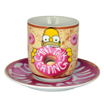 Os Simpson Caneca com pires Can´t Talk Eating