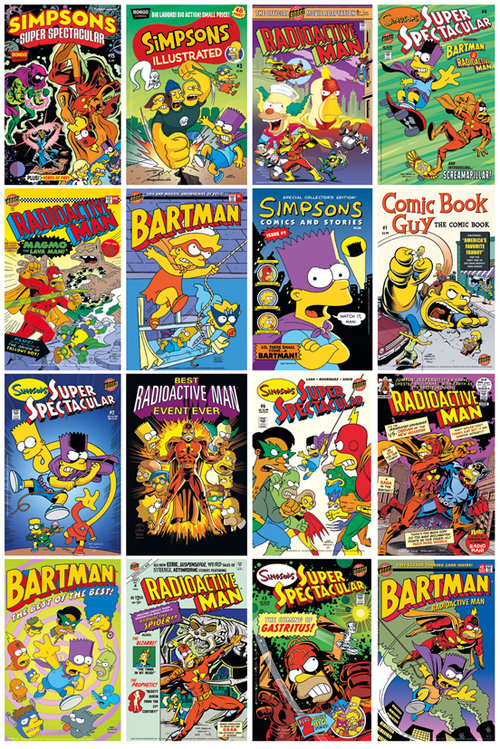 Póster Os Simpsons Comic Covers