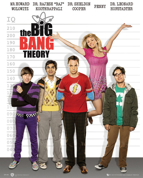 Póster The Big Bang Theory Line Up