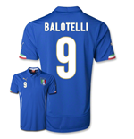 Camiseta Itália 2014-15 World Cup Home (Balotelli 9)