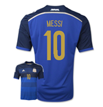 Camiseta Argentina 2014-15 Away World Cup (Messi 10) de criança