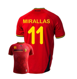 Camiseta Bélgica 2014-15 World Cup Home (Miralas 11)