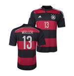 Camiseta Alemanha 2014-15 World Cup Away (Muller 13)