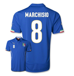 Camiseta Itália 2014-15 World Cup Home (Marchisio 8)