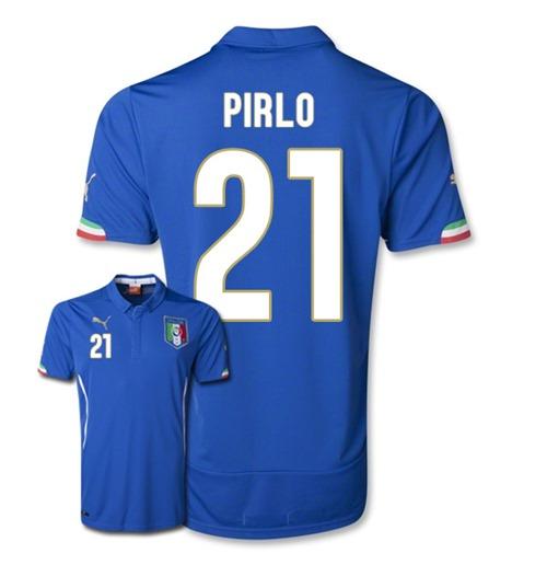 be575c2eb2aab Compra Camiseta Itália 2014-15 World Cup Home (Pirlo 21) Original