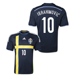 Camiseta Suécia 2014-15 Away (Ibrahimovic 10)
