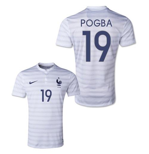 Compra Camiseta França 2014-15 World Cup Away (Pogba 19) Original 4fd78e2e36754