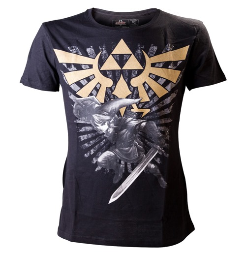 Camiseta ZELDA Gold Link Logo Medium