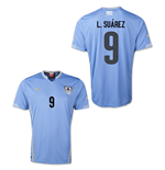 Camiseta Uruguai 2014-15 World Cup Home (L.Suarez 9)