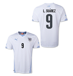 Camiseta Uruguai 2014-15 World Cup Away (L.Suarez 9)
