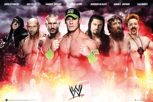 Maxi Póster WWE Collage 2014