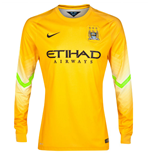 Camiseta goleiro Manchester City FC 2014-2015 Away Nike (Pro Gold)