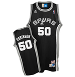 Camiseta adidas San Antonio Spurs #50 David Robinson Soul Swingman Road