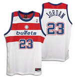 Camiseta Washington Bullets Michael Jordan Throwback Swingman