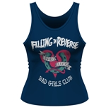 Camiseta de Suspensórios Falling in Reverse Bad Girls