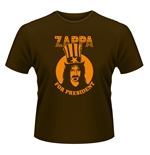 Camiseta Frank Zappa  - Zappa For President marrom