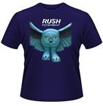 "Camiseta do grupo musical ""Rush"" representando a musica ""Fly By Night"""