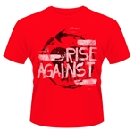 Camiseta Rise Against Free Rise 2 Vermelha