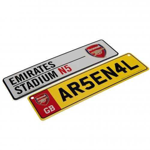 "Conjunto de placas de metal do time  ""Arsenal F.C."" para janelas"