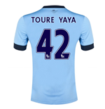 Camiseta Manchester City FC 2014-15 Home (Toure Yaya 42)