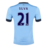 Camiseta Manchester City FC 2014-15 Home (Silva 21)