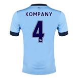 Camiseta Manchester City FC 2014-15 Home (Kompany 4)