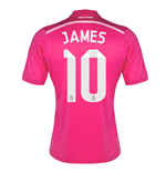 Camiseta 2014-15 Real Madrid Away (James 10) - de criança