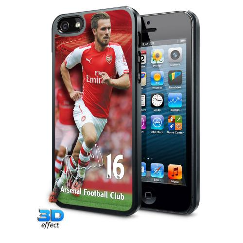 Carcaça 3D iPhone 5 /5S Arsenal Ramsey