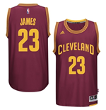 Camiseta Cleveland Cavaliers LeBron James adidas Garnet New Swingman Road