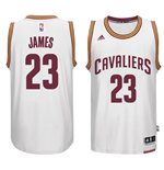 Camiseta Cleveland Cavaliers LeBron James adidas White New Swingman Home