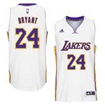 Camiseta Los Angeles Lakers Kobe Bryant adidas White New Swingman Alternate