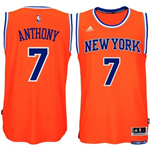Camiseta New York Knicks Carmelo Anthony adidas Orange New Swingman Alternate
