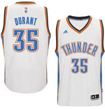 Camiseta Oklahoma City Thunder Kevin Durant adidas White New Swingman Home