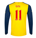 Camiseta Arsenal 2014-15 Away (Ozil 11) de menino