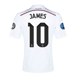 Camiseta Real Madrid 2014-15 UCL Home (James 10) - de criança