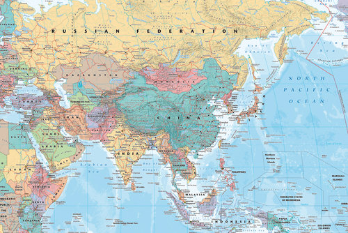 Poster World map 127404
