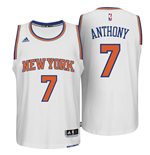 Camiseta New York Knicks Carmelo Anthony adidas White New Swingman Home