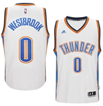 Camiseta Oklahoma City Thunder Russell Westbrook adidas White New Swingman Home