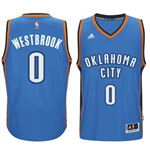 Camiseta Oklahoma City Thunder Russell Westbrook adidas Light Blue New Swingman Road