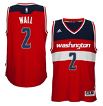 Camiseta Washington Wizards John Wall adidas Red New Swingman Road