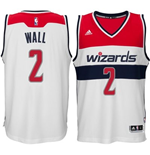 Camiseta Washington Wizards John Wall adidas White New Swingman Home