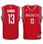 Camiseta Houston Rockets James Harden adidas Red New Swingman Road