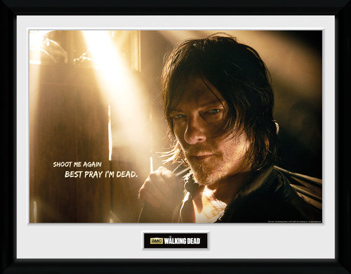 Póster The Walking Dead Daryl Light Moldurado
