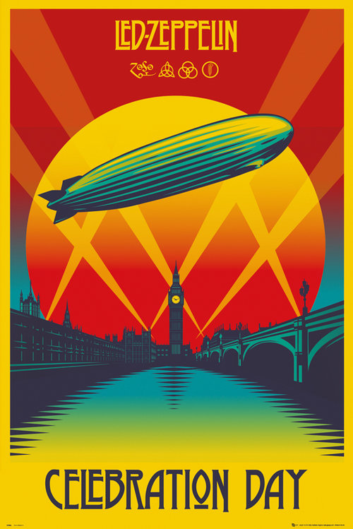 Póster Led Zeppelin Celebration Day